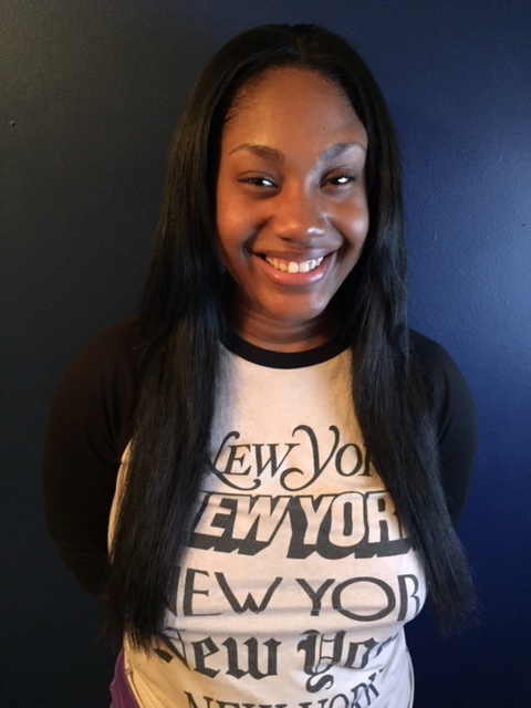 Sew in, dyed black, razored layers for volume -
