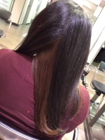 Natural hair Blow out x Iron Work x Color Work -