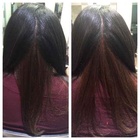 Natural hair Blow out x Iron Work