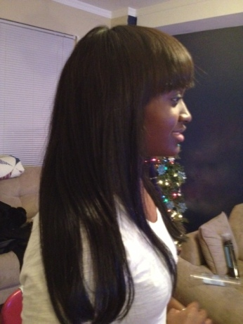 Sew In with fringe cut