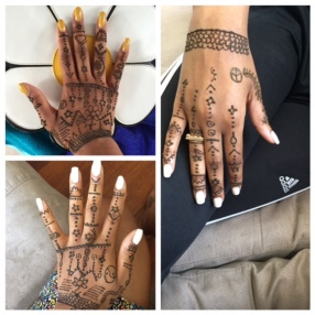 A Good Vibes Only, situation  These images capture the henna as it sets and dries.