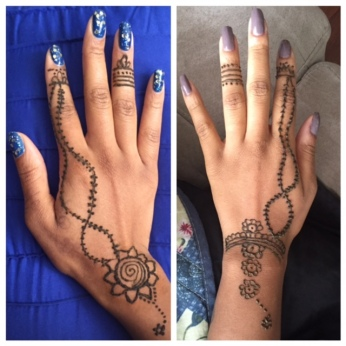 That time me & my twin had matching henna...