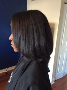 Relaxed, blow dry with iron work